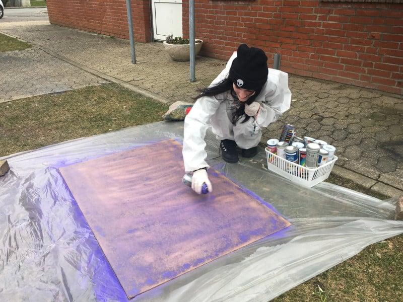 Kreativ elev udendørs